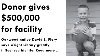Flory gives $500,000 to library