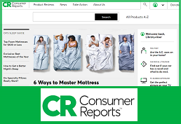 Screenshot of Consumer Reports