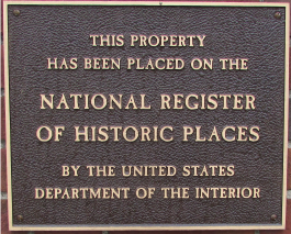 Library's National Historic Register Plaque